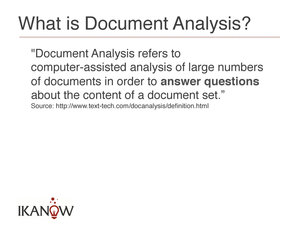 """What is Document Analysis?! """"Document Analysis ..."""