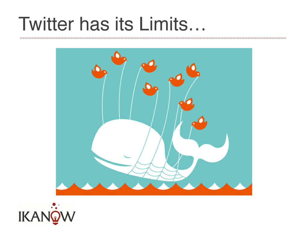 Twitter has its Limits…!