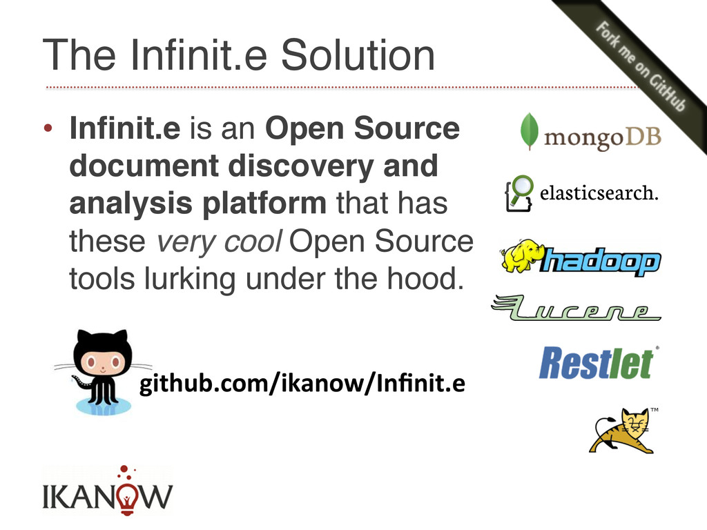 • Infinit.e is an Open Source document discover...