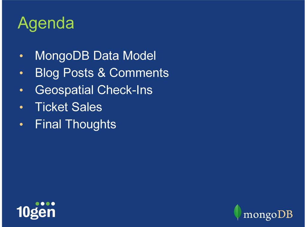 MongoDB Data Model Blog Posts & Comments Geospa...