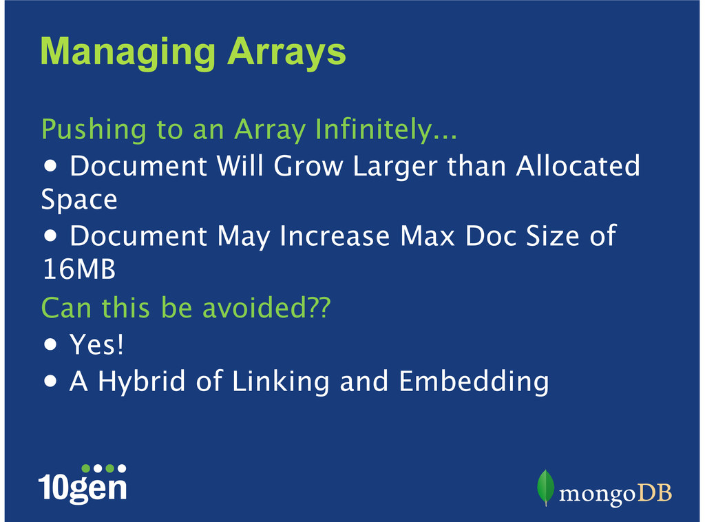 Managing Arrays Pushing to an Array Infinitely....