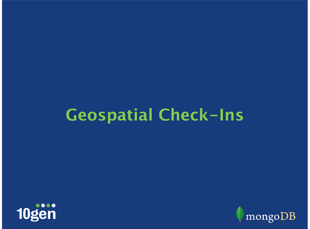 Geospatial Check-Ins