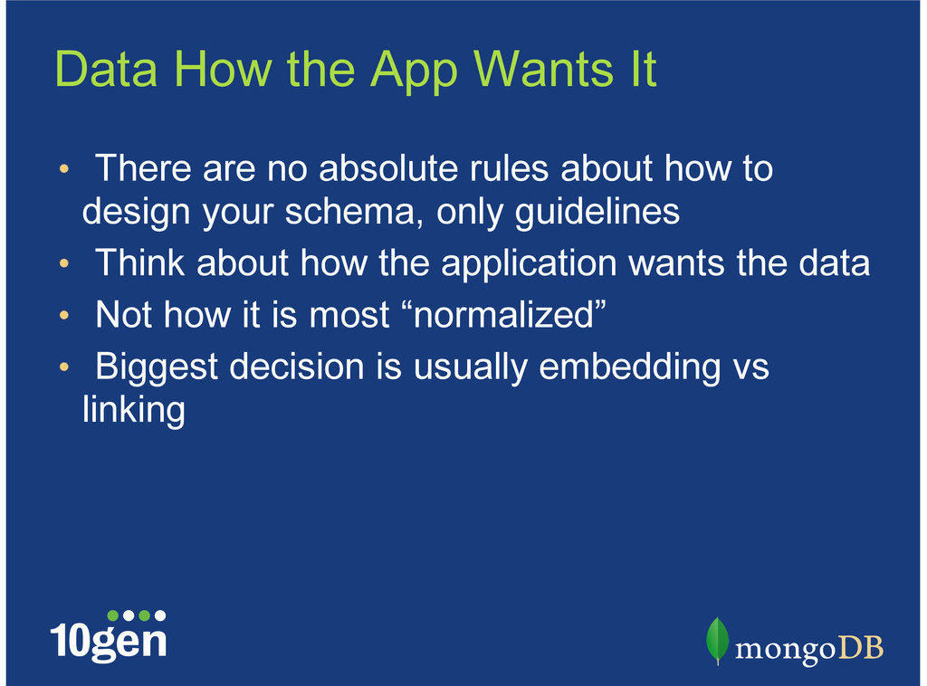 Data How the App Wants It There are no absolute...