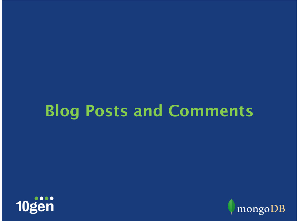 Blog Posts and Comments