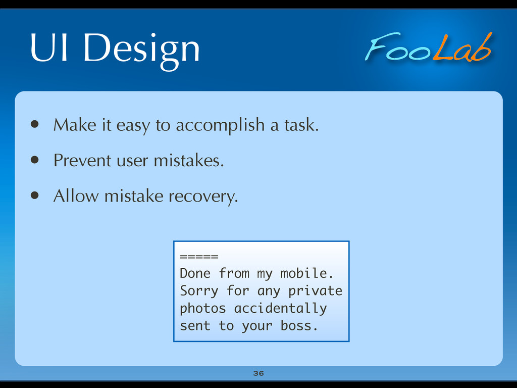 FooLab UI Design 36 • Make it easy to accomplis...