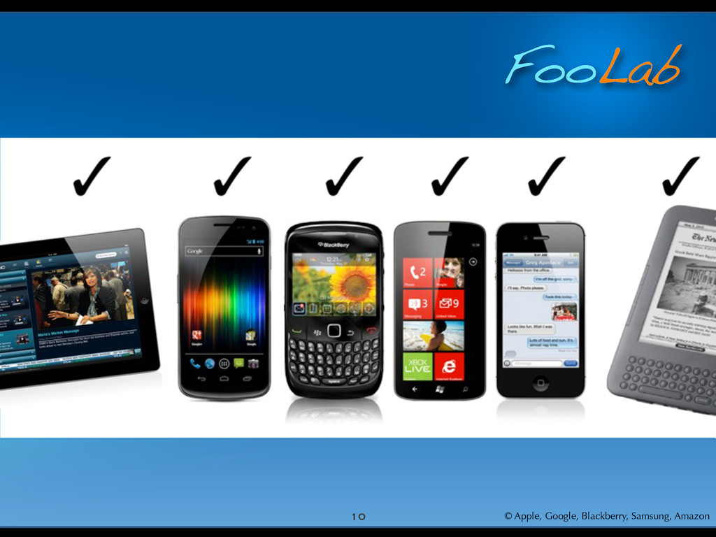 FooLab 10 © Apple, Google, Blackberry, Samsung,...