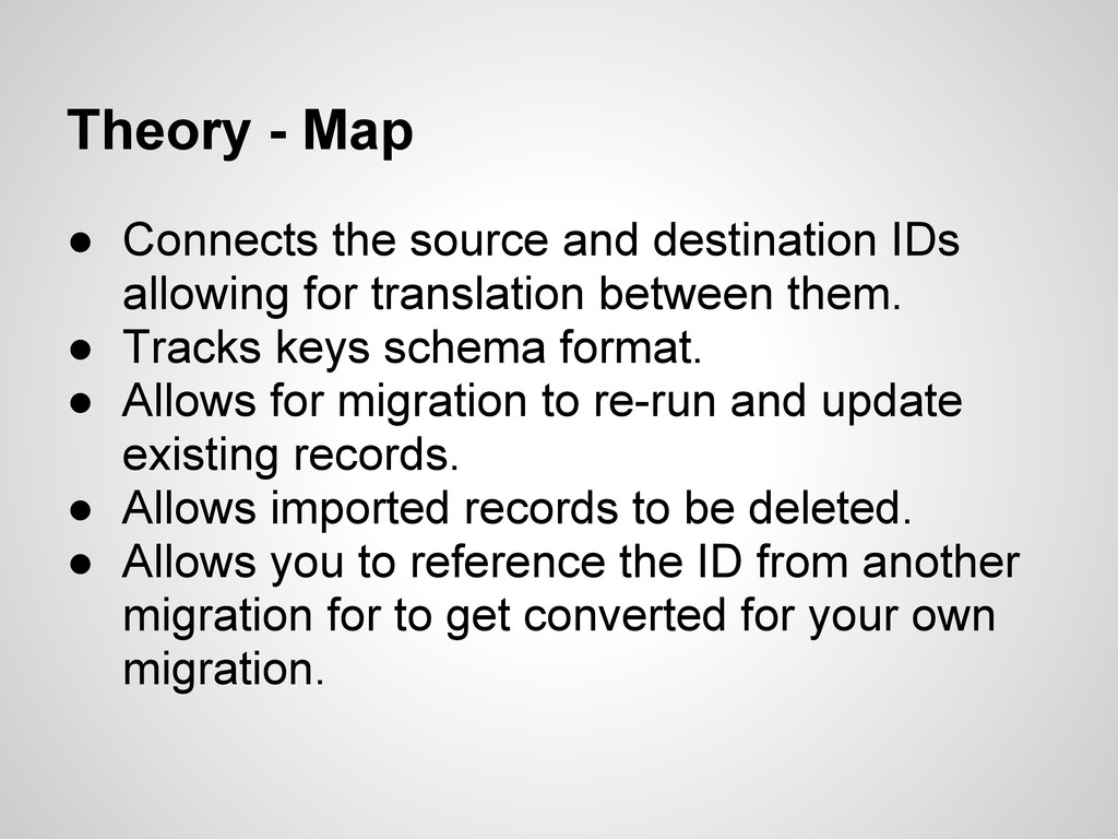 Theory - Map ● Connects the source and destinat...