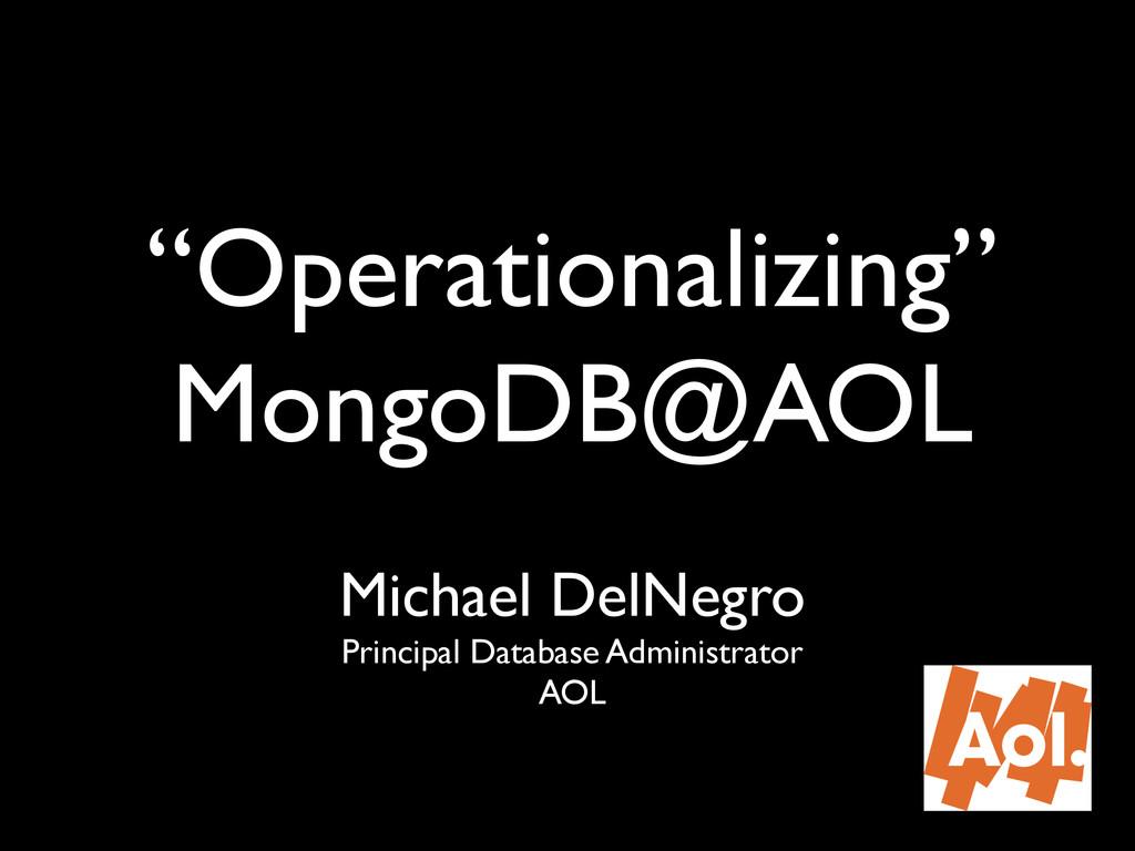 Michael DelNegro! Principal Database Administra...