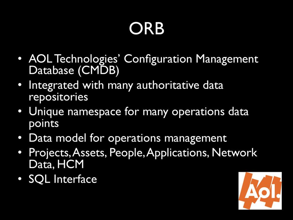 "ORB"" • AOL Technologies' Configuration Manageme..."