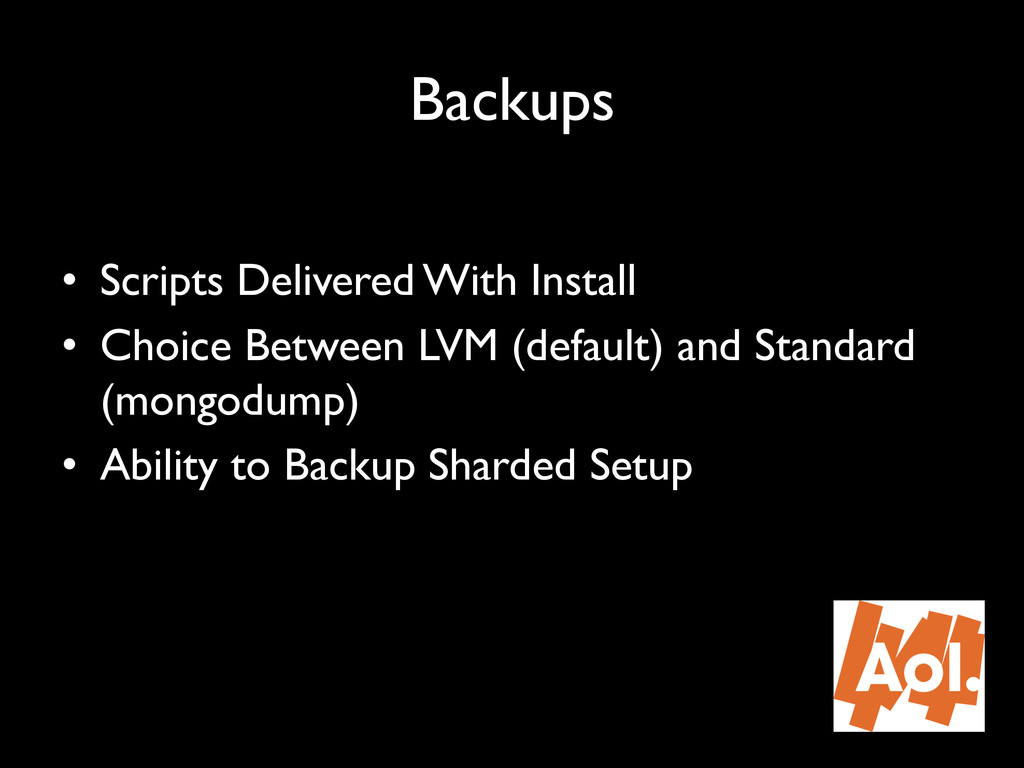 """Backups"""" • Scripts Delivered With Install"""" • ..."""