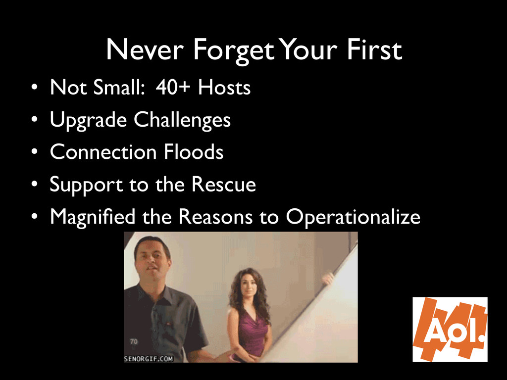 """Never Forget Your First"""" • Not Small: 40+ Host..."""