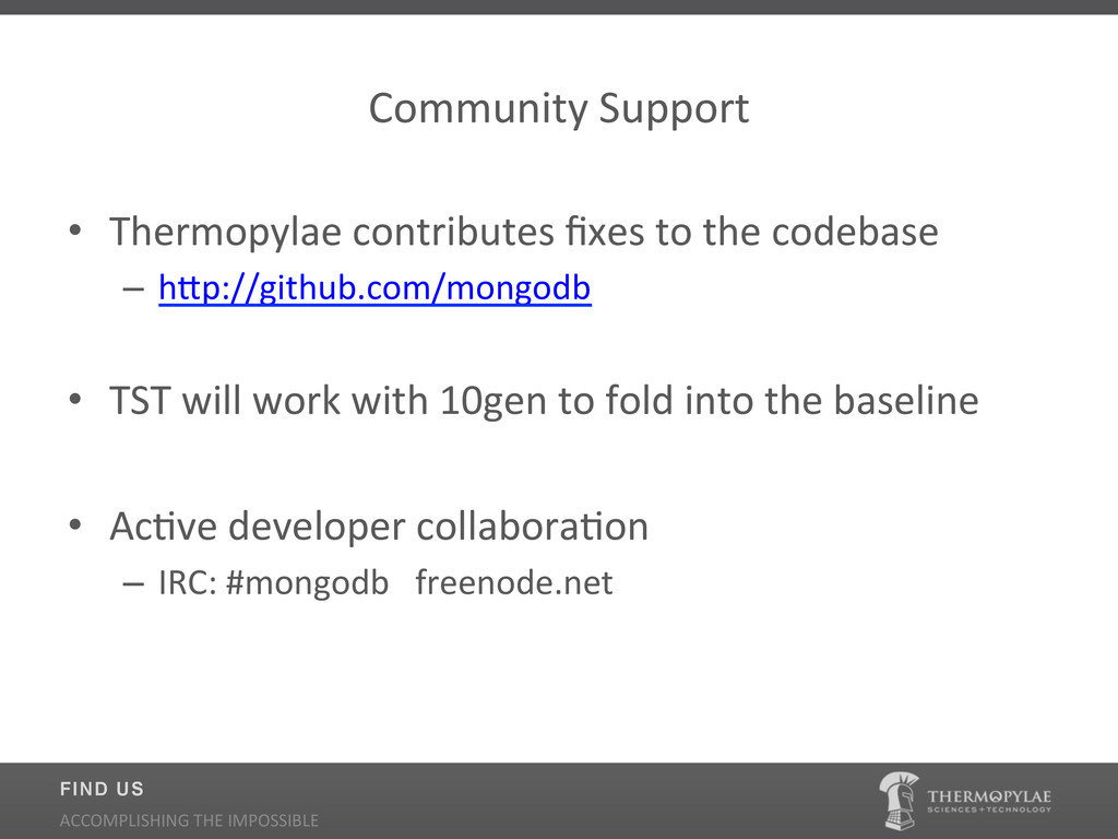 Community$Support$ • Thermopylae$contributes$fi...