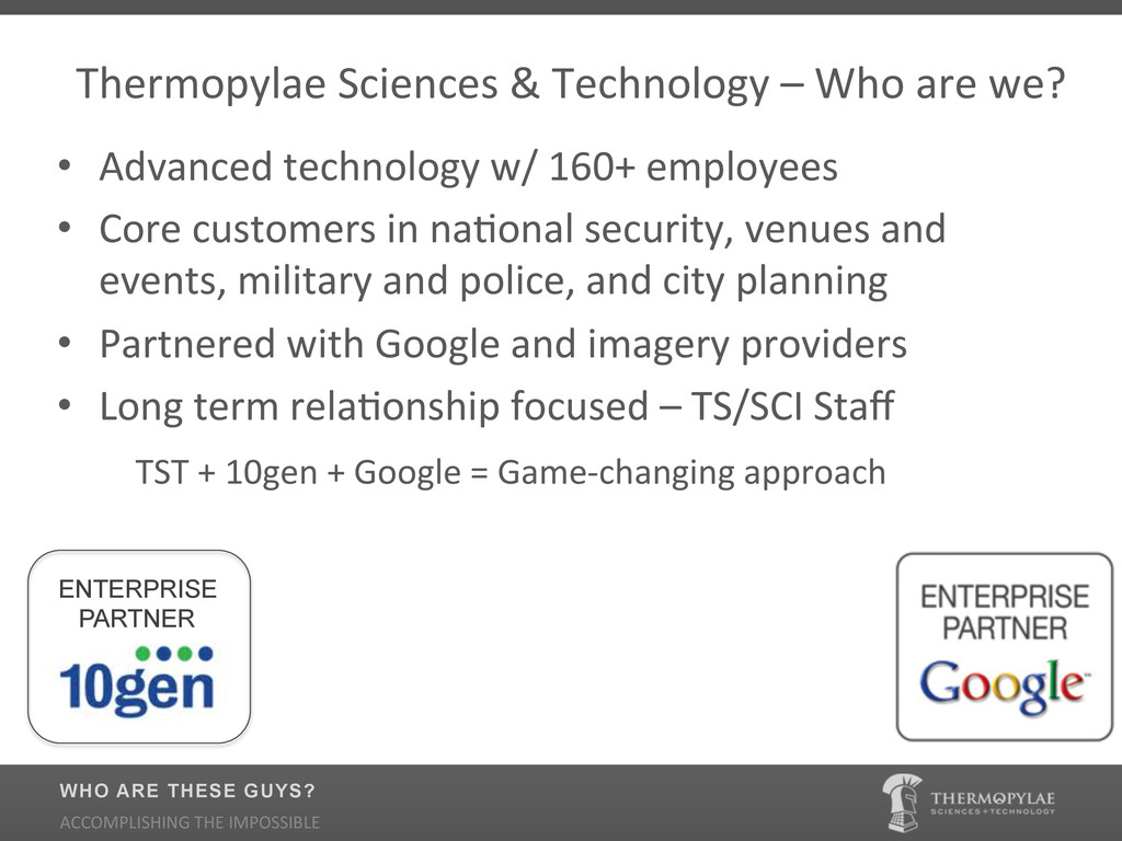 Thermopylae$Sciences$&$Technology$–$Who$are$we?...