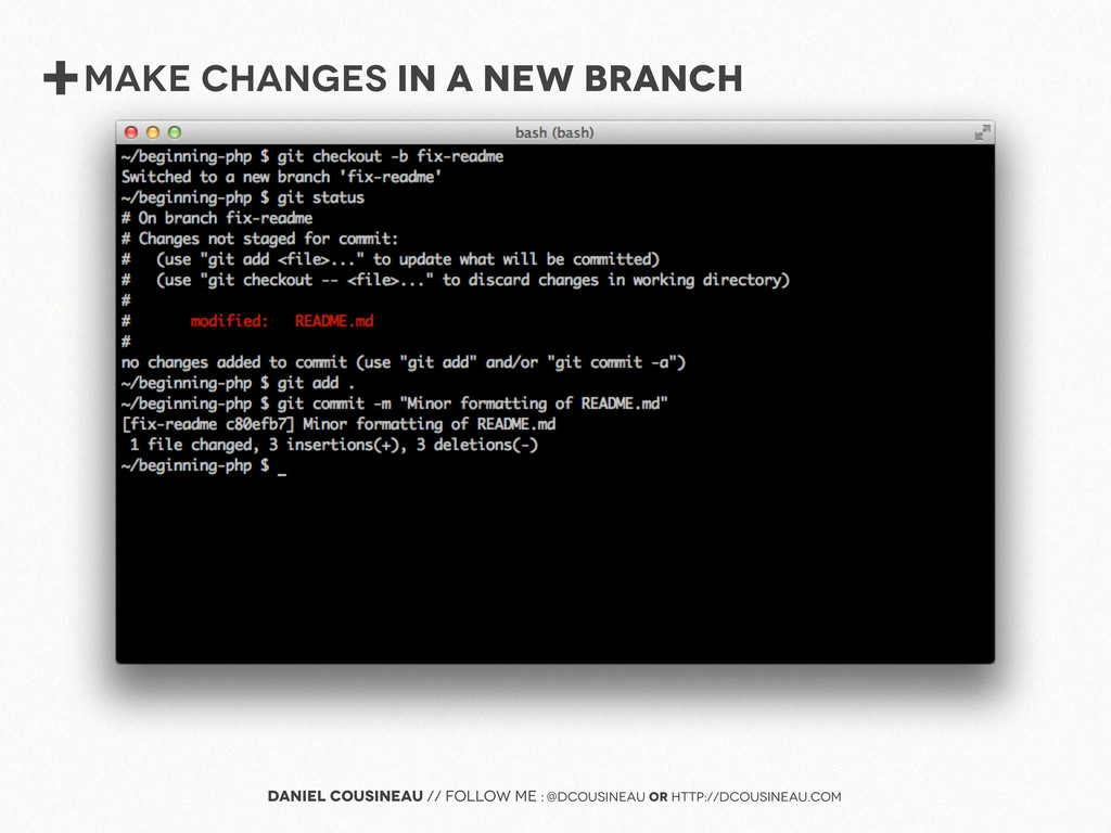 +MAke Changes IN A NEW BRANCH Daniel Cousineau ...