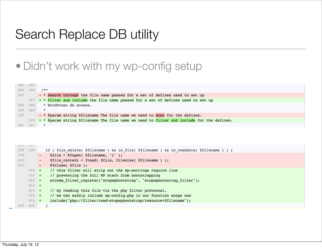 Search Replace DB utility • Didn't work with my...