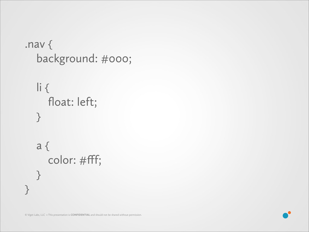 .nav  background: #000; li  float: left;  a ...