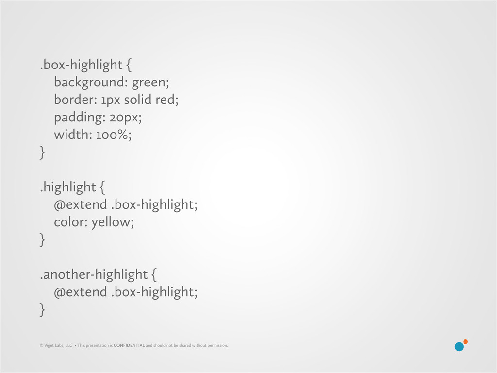 .box-highlight { background: green; border: 1px...