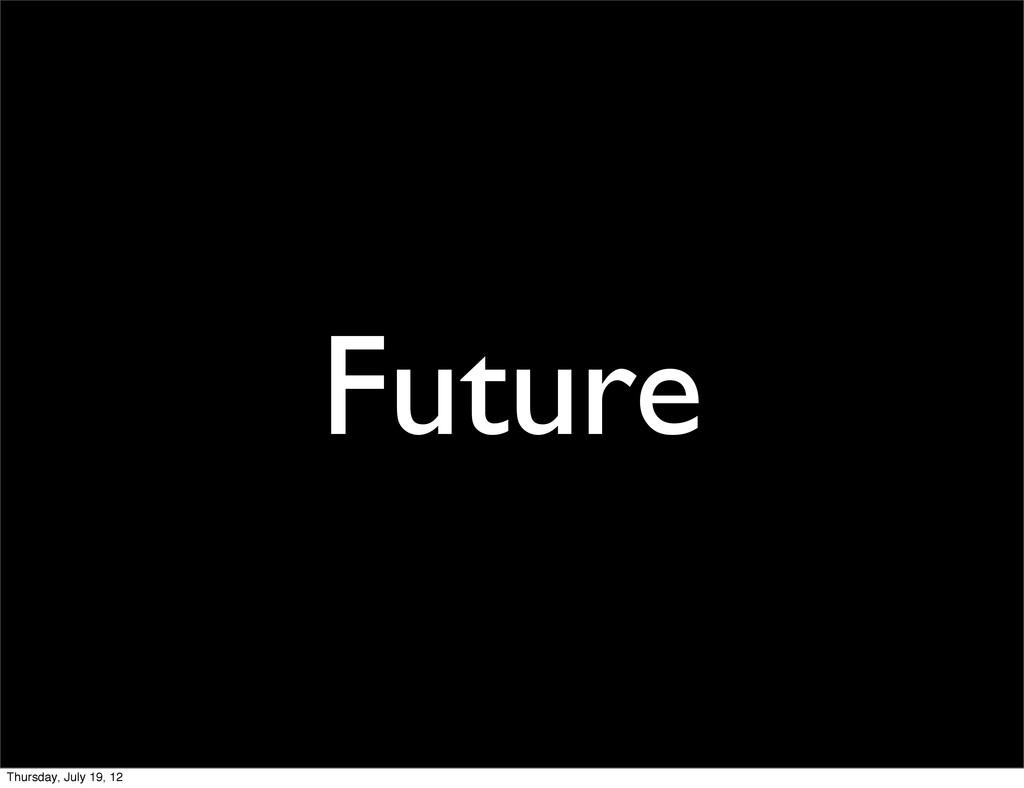 Future Thursday, July 19, 12