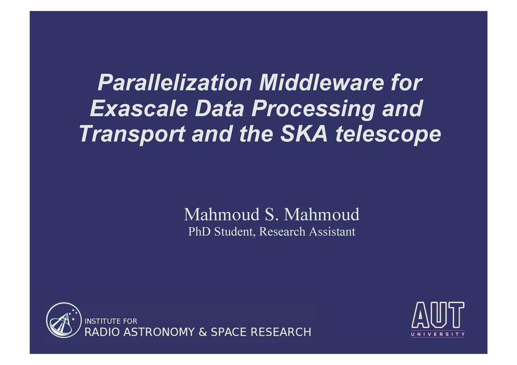 Parallelization Middleware for Exascale Data Pr...