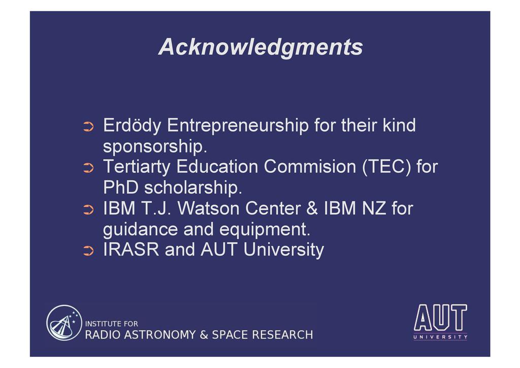 Acknowledgments ➲ Erdödy Entrepreneurship for ...