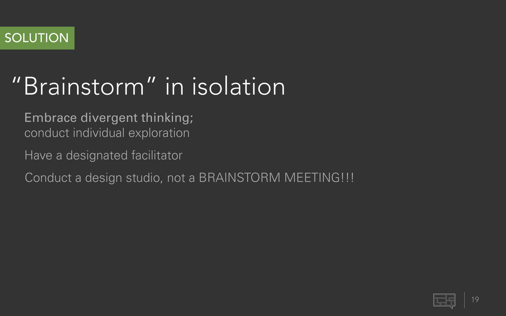 """""""Brainstorm"""" in isolation 19 SOLUTION Have a de..."""