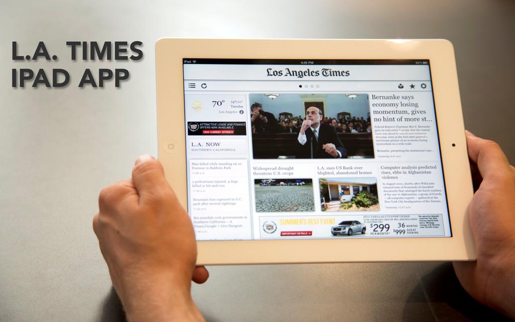 L.A. TIMES IPAD APP
