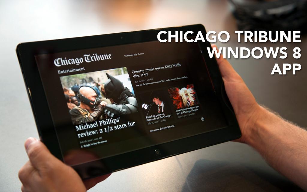 CHICAGO TRIBUNE WINDOWS 8 APP