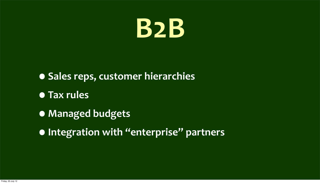 B2B •Sales	