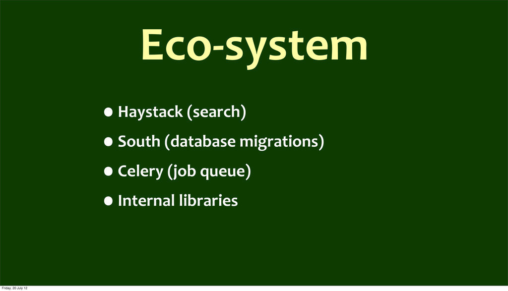 Eco-­‐system •Haystack	