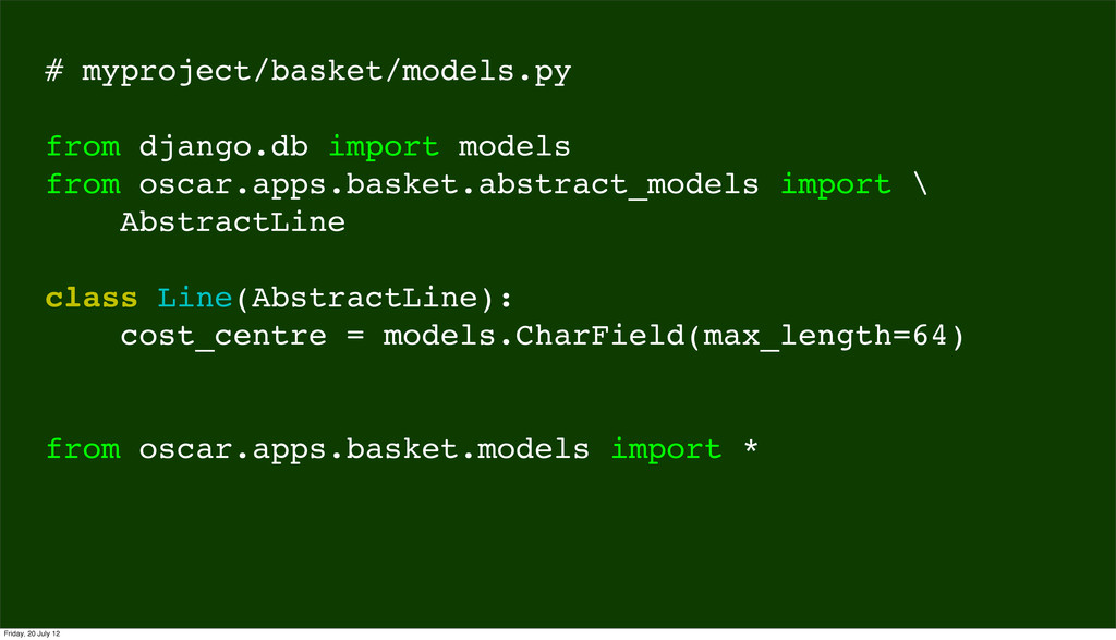# myproject/basket/models.py from django.db imp...