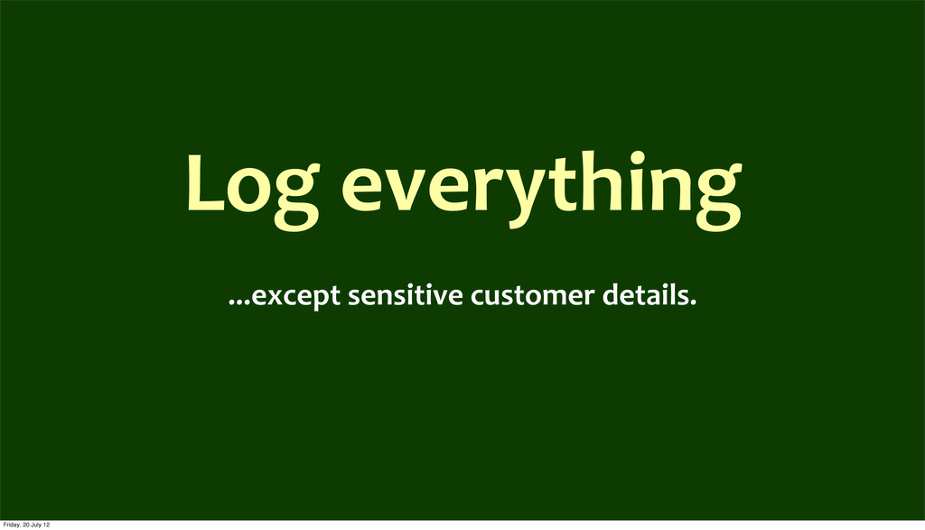 Log	