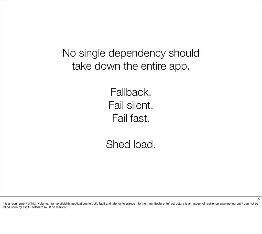No single dependency should take down the entir...