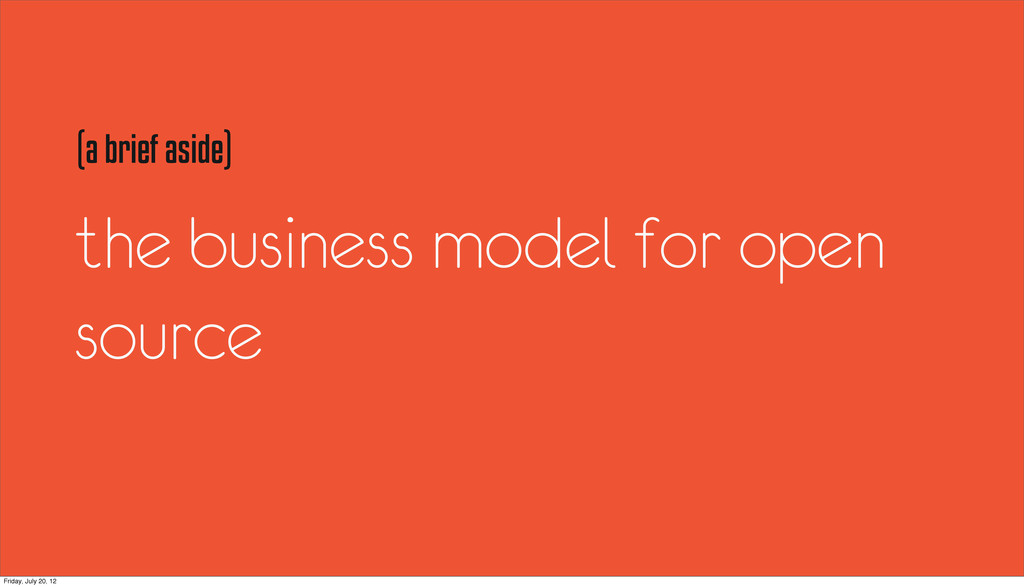 the business model for open source (a brief asi...