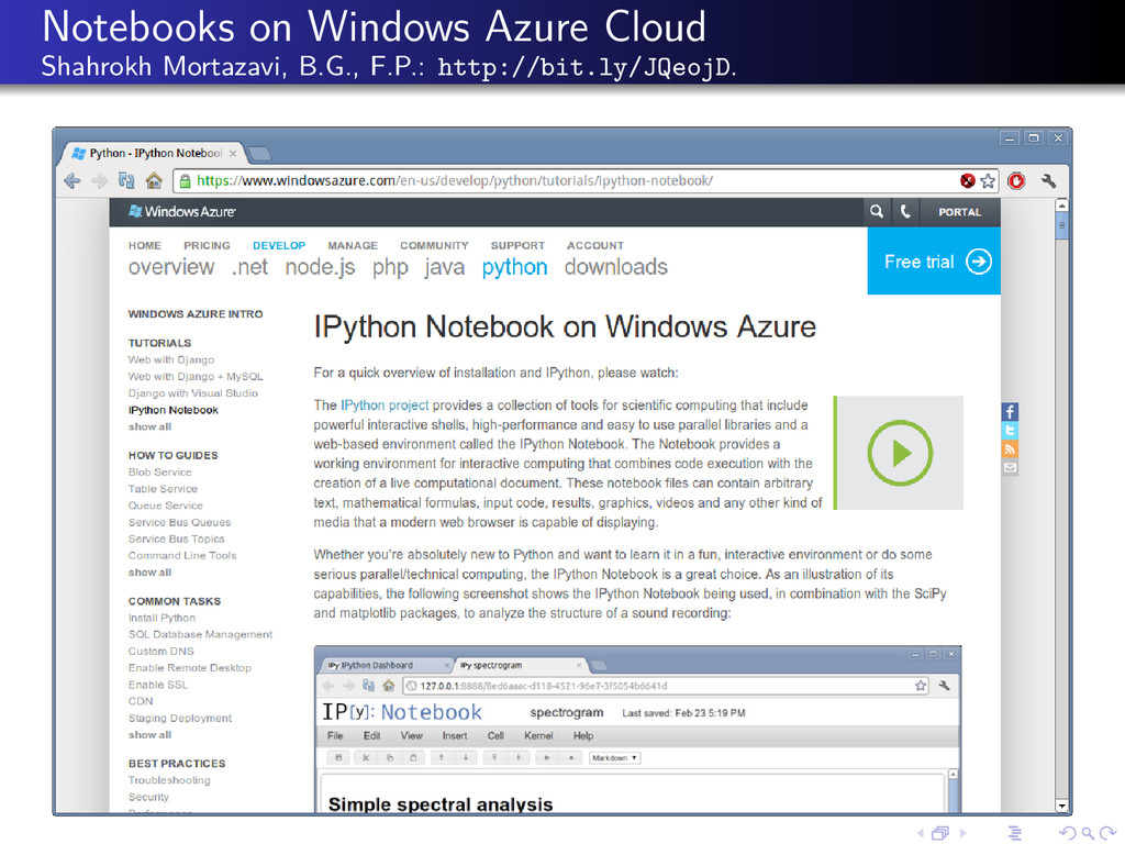 Notebooks on Windows Azure Cloud Shahrokh Morta...