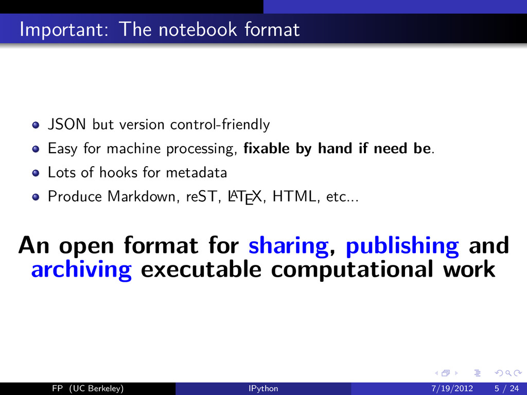 Important: The notebook format JSON but version...
