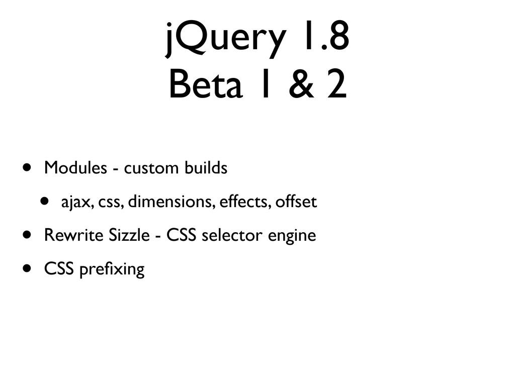 jQuery 1.8 Beta 1 & 2 • Modules - custom builds...
