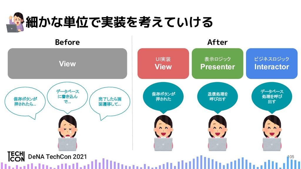 View ビジネスロジック Interactor 表示ロジック Presenter UI実装 ...
