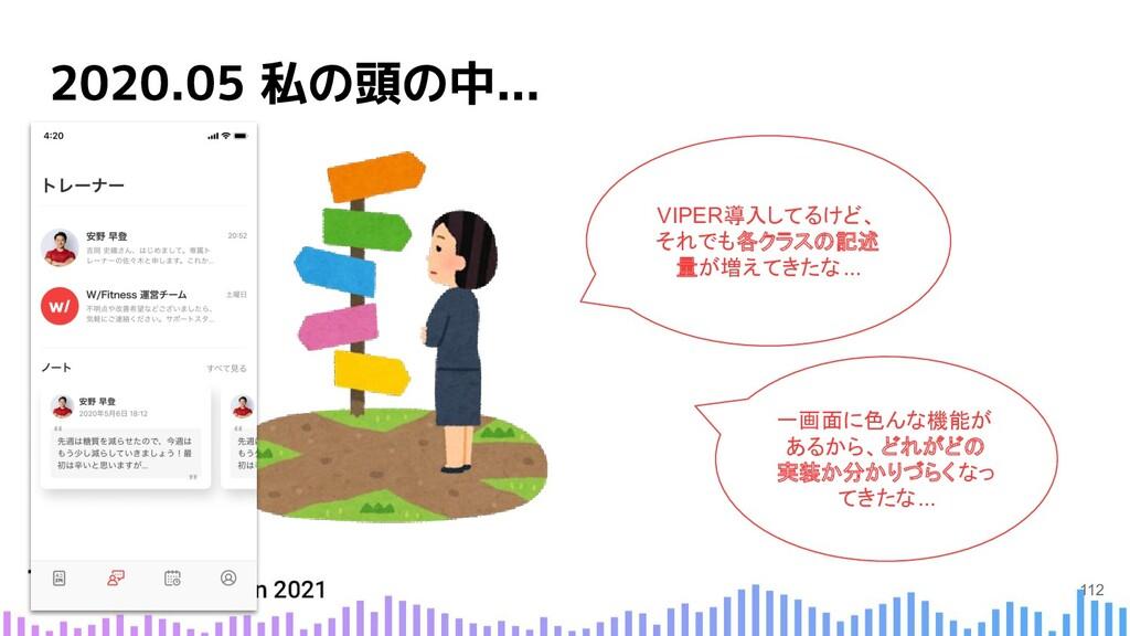 VIPER導入してるけど、 それでも各クラスの記述 量が増えてきたな... 一画面に色んな機能...