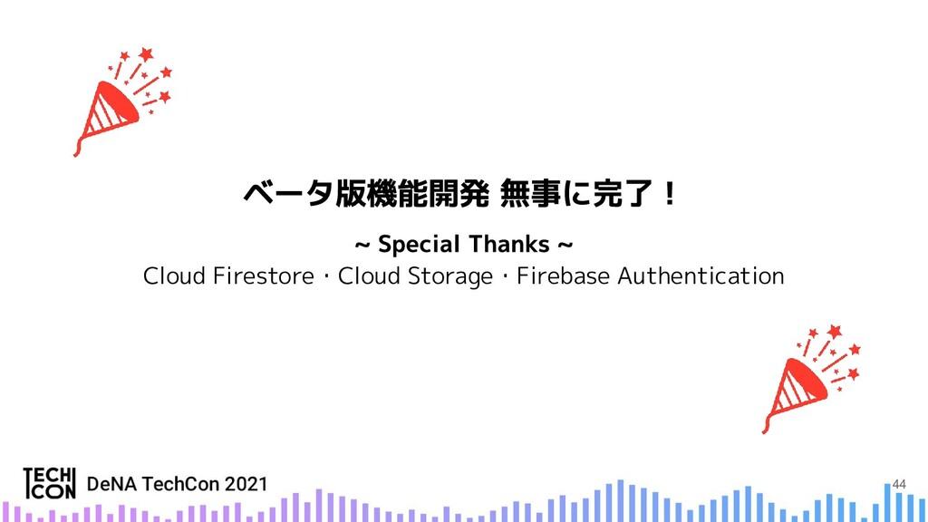 Cloud Firestore・Cloud Storage・Firebase Authenti...