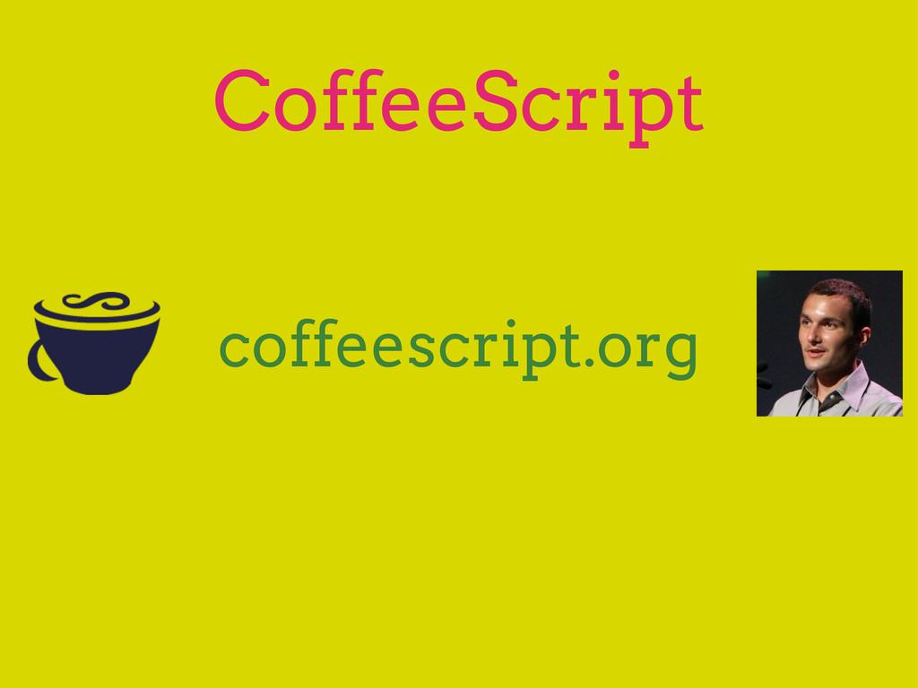 CoffeeScript coffeescript.org