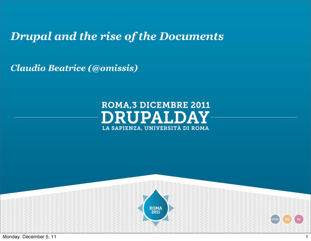 Drupal and the rise of the Documents Claudio Be...