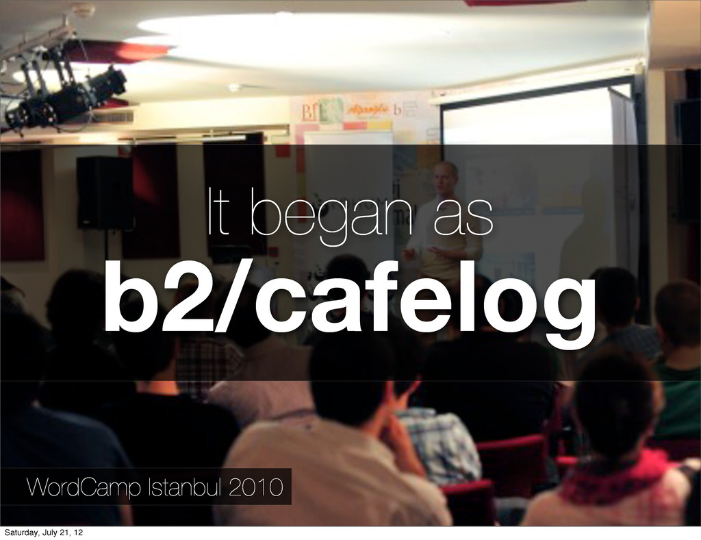 WordCamp Istanbul 2010 It began as b2/cafelog S...