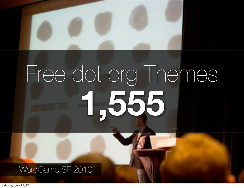 Free dot org Themes 1,555 WordCamp SF 2010 Satu...