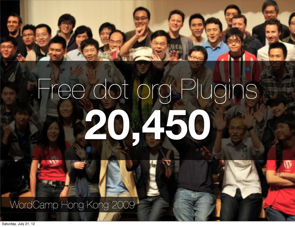 Free dot org Plugins 20,450 WordCamp Hong Kong ...
