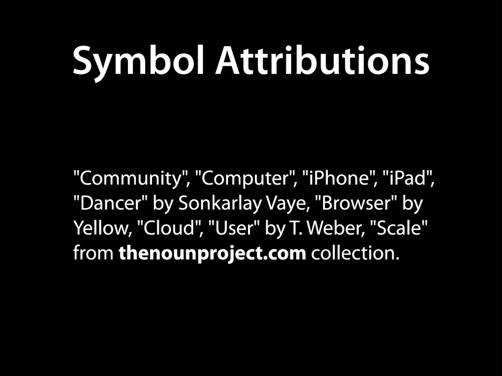 "Symbol Attributions ""Community"", ""Computer"", ""i..."