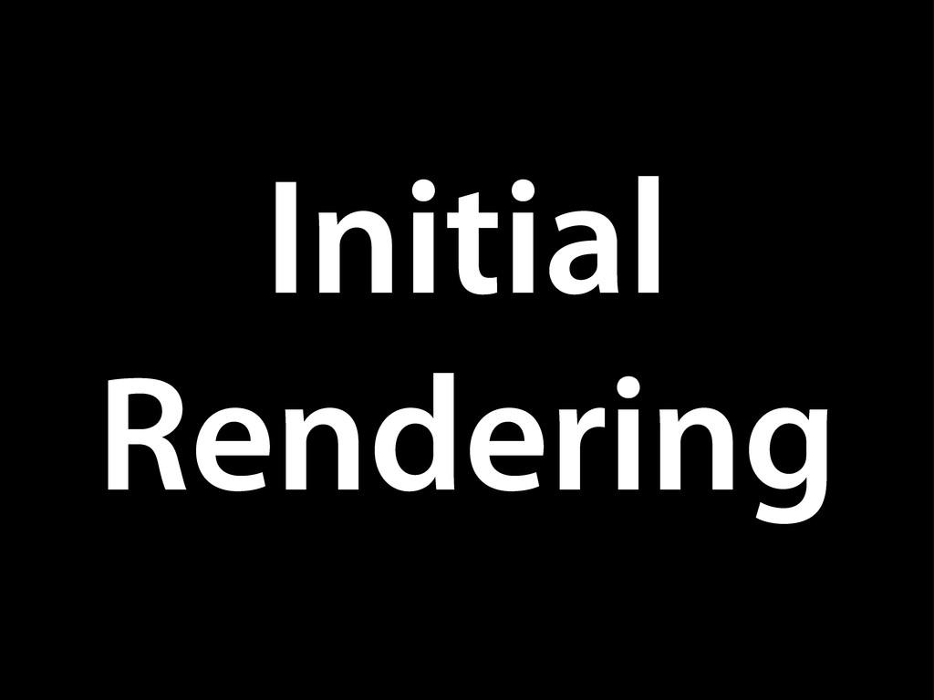 Initial Rendering