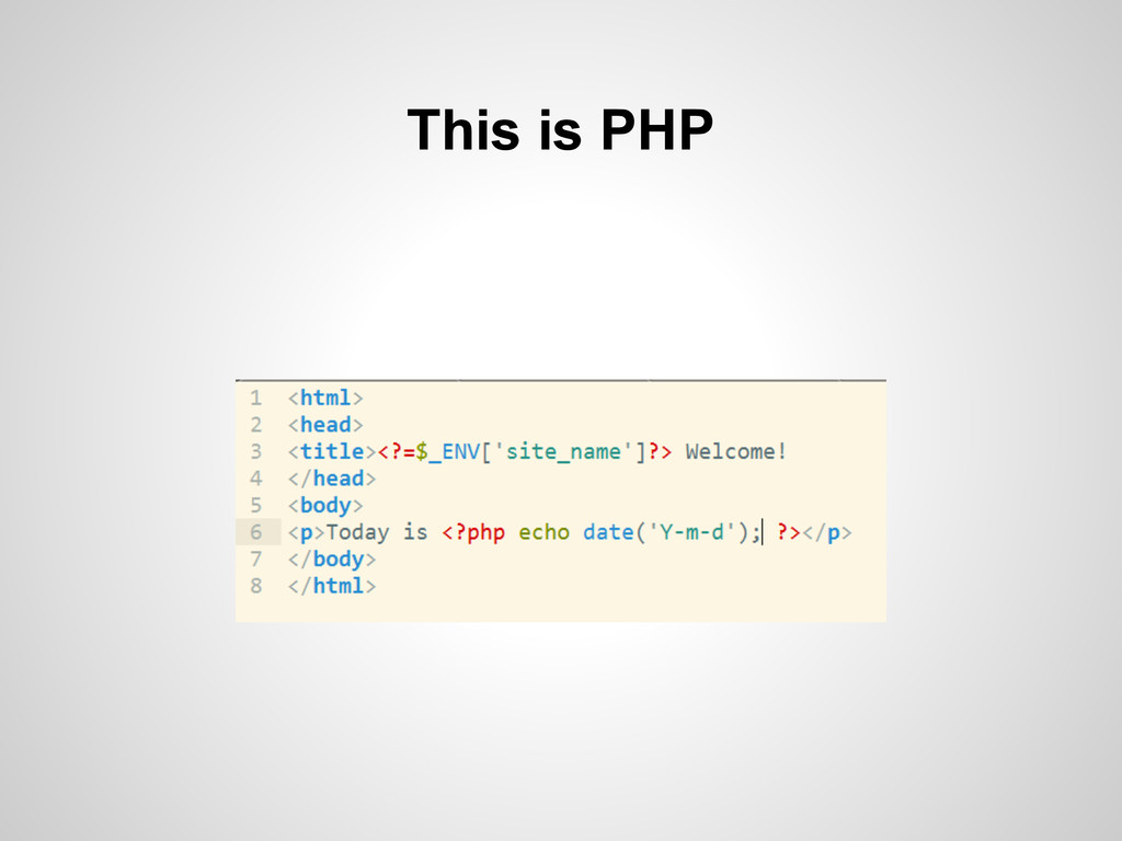 This is PHP