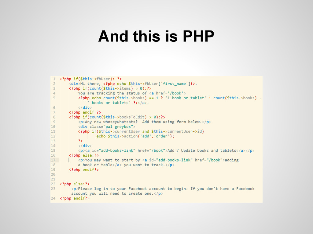 And this is PHP