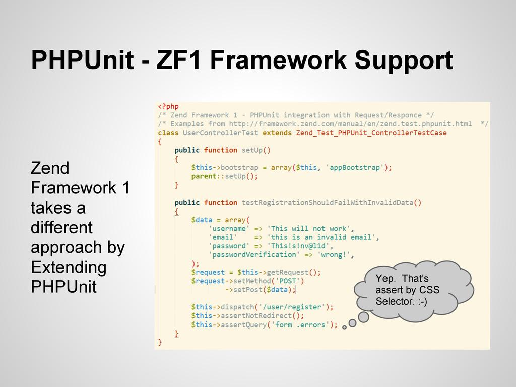 PHPUnit - ZF1 Framework Support Zend Framework ...