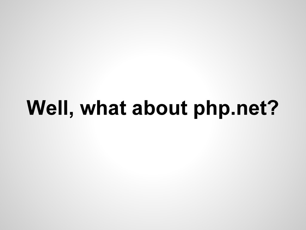 Well, what about php.net?